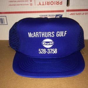 Alfa-Bro Accessories - GULF Oil McArthurs Gas Company INc. Hat vintage Co 7d331a20ec1b